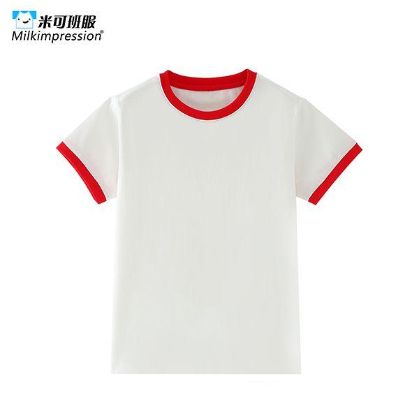 G1201-儿童款撞色圆领短袖