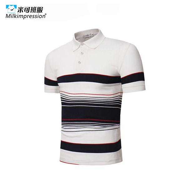 ZD1493-POLO衫定制短袖撞色边小...