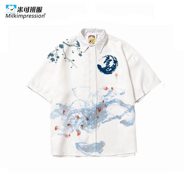 TZ-全身印衬衣套装
