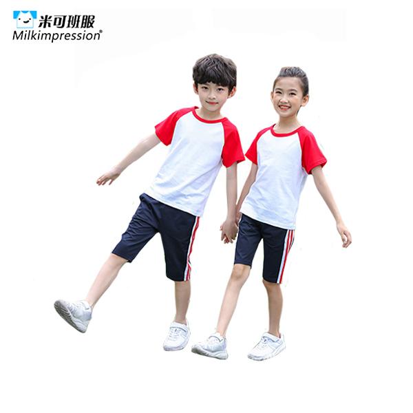 ETTZ1003-亲子儿童插肩短袖套装